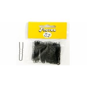 Horquillas flores invisible mini negro 25 bolsas de 100u