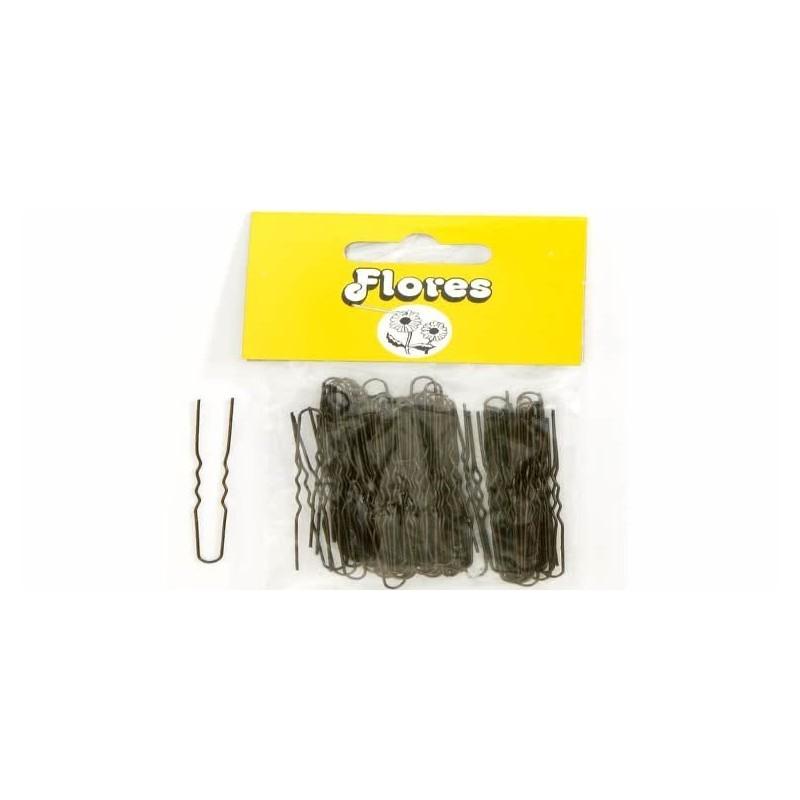 Horquillas flores invisible mini rubio 25 bolsas de 100u