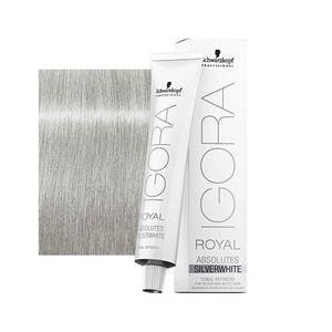 Tinte Igora Royal Absolutes Silverwhite Plata 60ml
