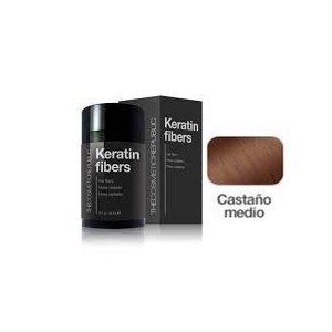 Keratin Fibers Castaño Medio 12.5gr + Mist Fiberhol Spray 60ml De Regalo