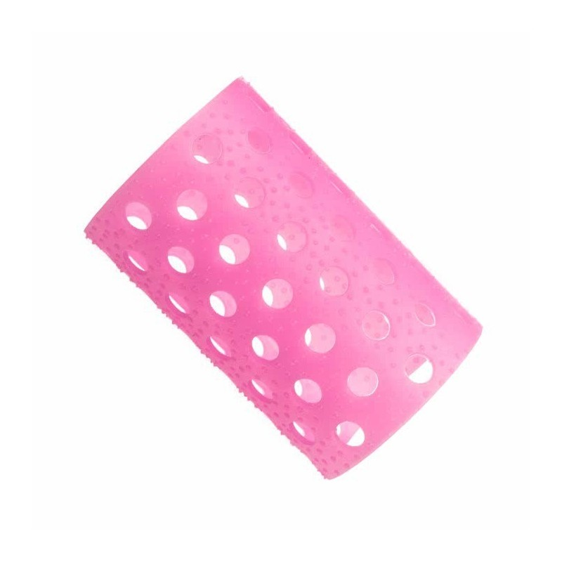 Rulo rosa translucido nº5 Bolsa 12 uds