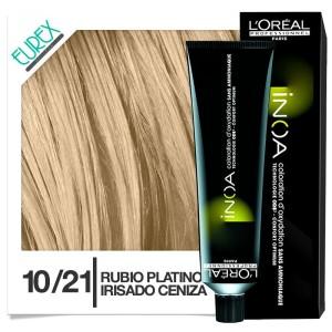 Loreal inoa coloración Tinte 10/21 Rubio platino irisado ceniza
