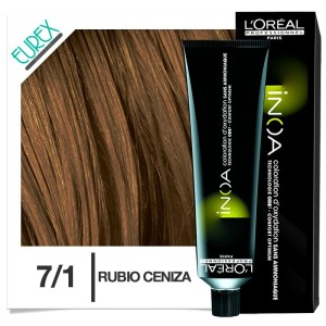 Tinte Loreal Inoa 7/1 Rubio Ceniza