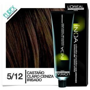 Tinte Loreal Inoa 5/12 Castaño Claro Ceniza Irisado