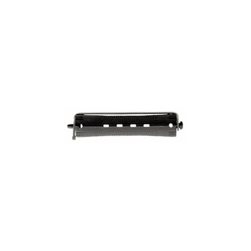 Bigudi plastico largo nº1 negro-gris (bolsa 12 u.)