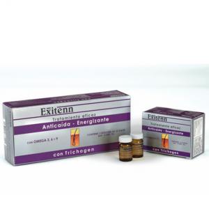 Tratamiento Anticaída-Energizante Exitenn con Trichogen 3x12x6ml