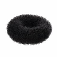 Relleno moño circular negro