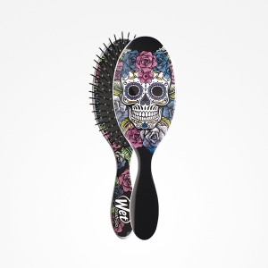Cepillo Wet Brush-Pro Oval Sugar Skull Purple Perfect Beauty