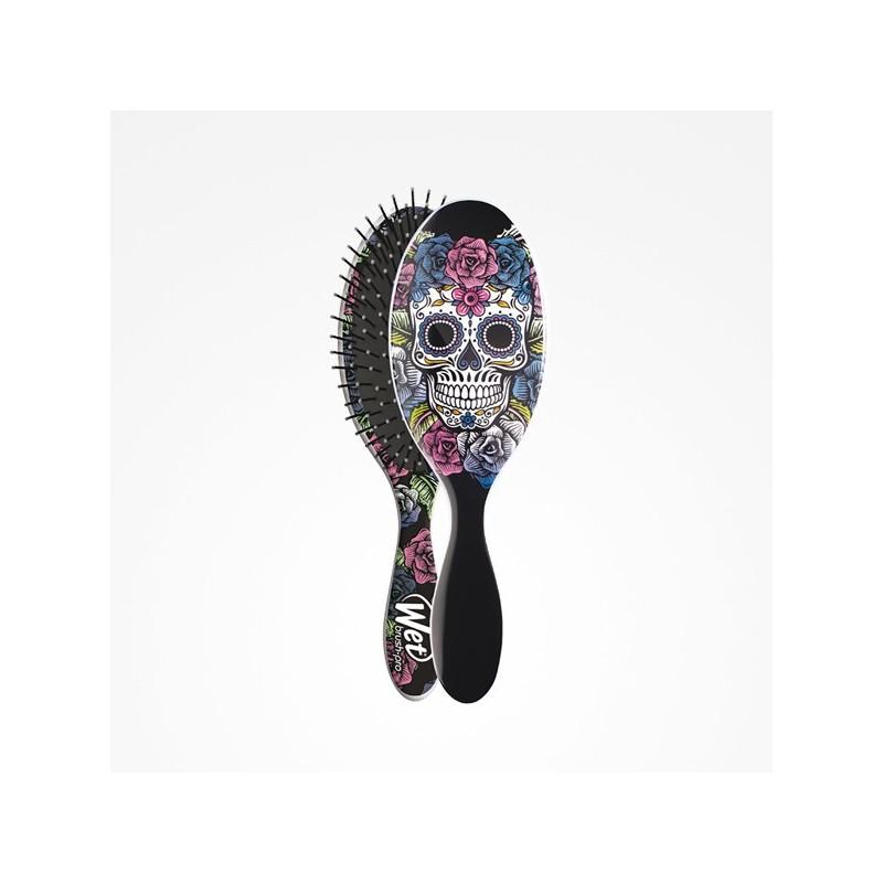 Imagen de Cepillo Wet Brush-Pro Oval Sugar Skull Purple Perfect Beauty