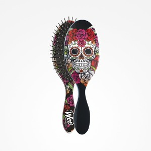 Cepillo Wet Brush-Pro Oval Sugar Skull Red Rose Peerfect Beauty
