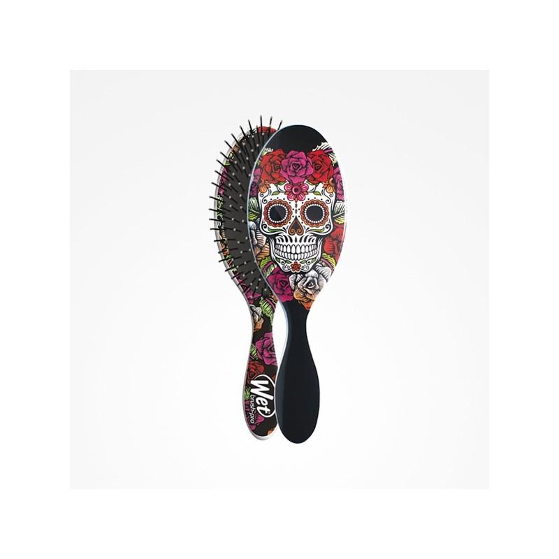 Imagen de Cepillo Wet Brush-Pro Oval Sugar Skull Red Rose Perfect Beauty