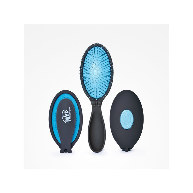 Imagen de Cepillo Plegable Wet Brush-Pro Pop Fold Blue Perfect Beauty