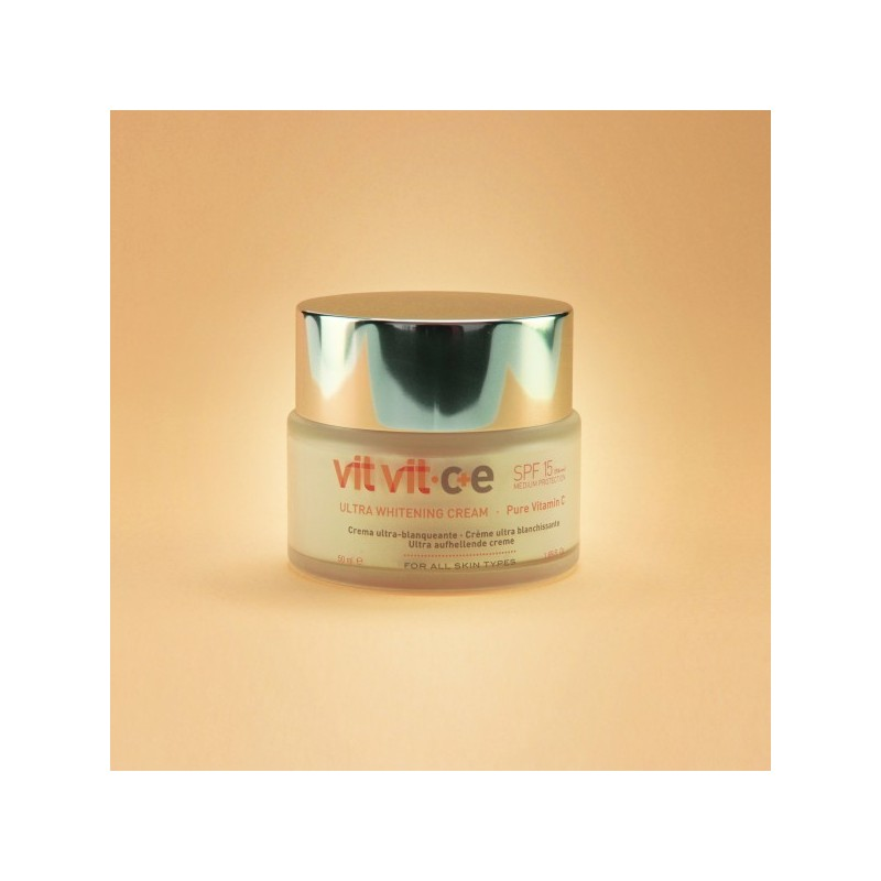Imagen de Crema Facial Blanqueadora VIT VIT Protectora SPF 15 Diet Esthetic 50ml