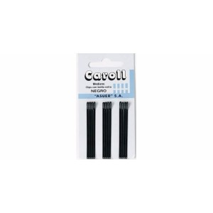 Horquillas Caroll mediano negro caja 60 cartones x12u