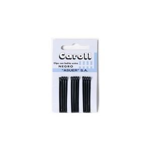 Horquillas Caroll negras caja 60 cartones x 12u