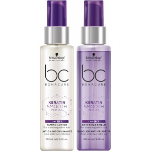 Crema Nutritiva BC Bonacure Keratin Smooth Perfect Doble Capa 2x100ml