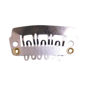Clips 2,2cm Pequeño Extensiones Plata Eurostil 4ud