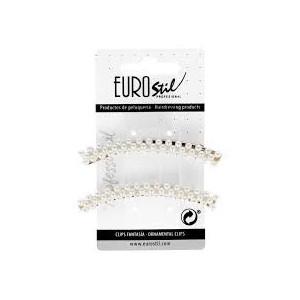 Clip Dorado Curvo Eurostil 2ud