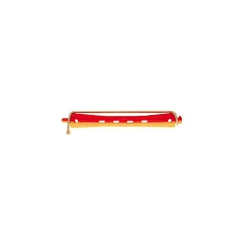 Bigudi plastico largo nº4 rojo-amarillo (bolsa 12 u.)