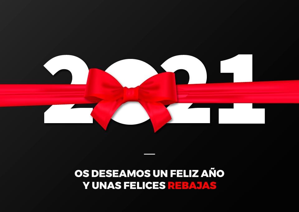 Os deseamos un Feliz año y unas felices REBAJAS
